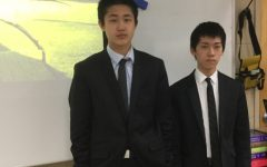 Chinese students Michael Zeng and Kevin Dai joined the eighth grade at McQuaid Jesuit earlier this semester.
