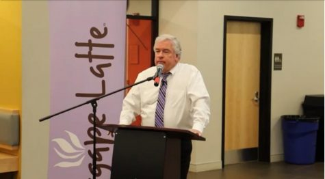 Tim Nally speaks at Agape Latte on October 24th.