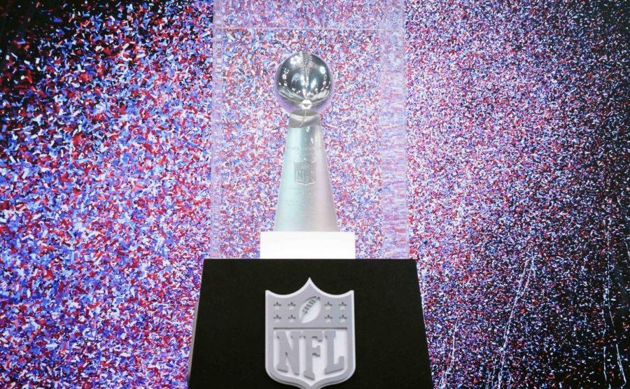 The Lombardi Trophy showcased at Raymond James Stadium for Super Bowl LV. Tampa Bay Buccaneers and the Kansas City Chiefs are competing for their shot to acquire the Lombardi Trophy this year.