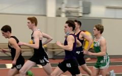 Joe Scherer, '21 runs the 800m at this years YSU open HS meet.