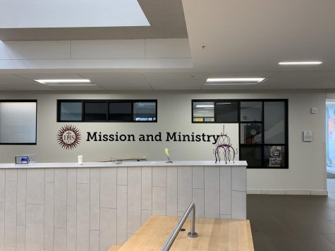 McQuaid Jesuit Mission and Ministry office located in The Wegman Family Science and Technology Center. This is where a lot of ideas are brought up and carried out for students to commit acts of service in the community.