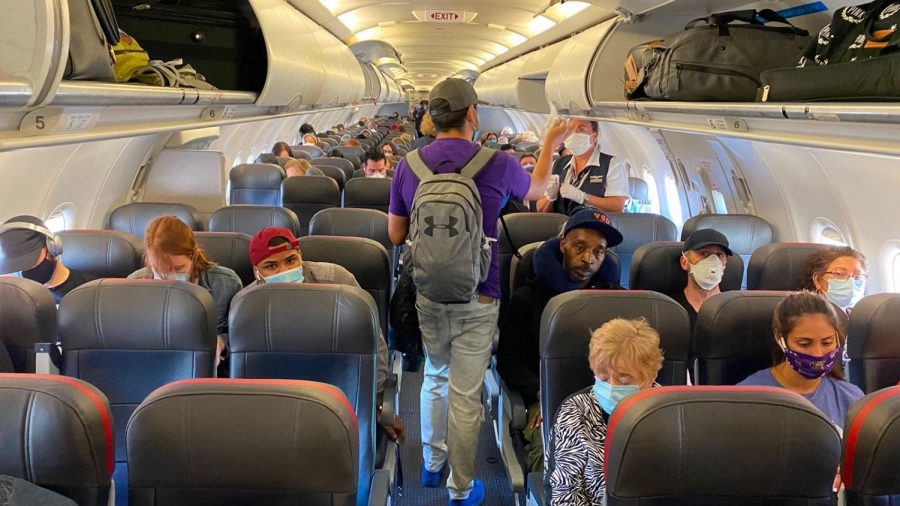 While most airlines are allowing full capacity flights, planes are often not filling up due to safety concerns customers have towards COVID-19.