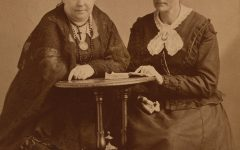 Rochester's Eilzabeth Cady Stanton and Susan B Anthony sit for a picture. They both did work in the Rochester area.