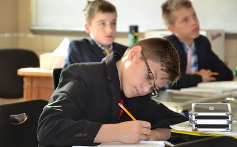 McQuaid Students taking an exam